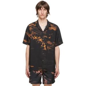 Ksubi Black and Orange Life Resort Shirt