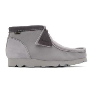 Clarks Originals Grey Gore-Tex® Wallabee Desert Boots
