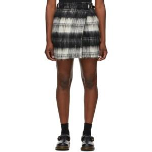 Le Kilt Black and White Brushed Wool Kilt Miniskirt