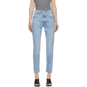 Levis Blue 501 Skinny Jeans