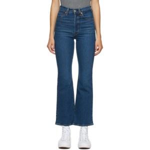 Levis Blue Ribcage Bootcut Jeans