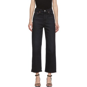 Levis Black Ribcage Straight Ankle Jeans