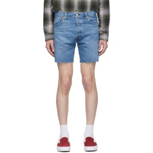 Levis Blue Denim 501 93 Cut-Off Shorts