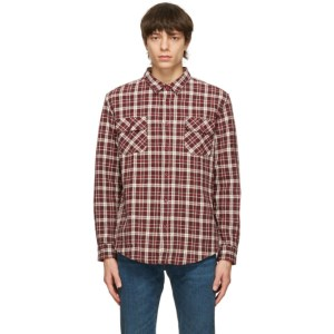 Levis Vintage Clothing Red and White Flannel Shorthorn Shirt
