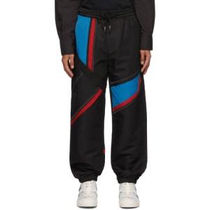 Feng Chen Wang Black and Blue Paneled Lounge Pants