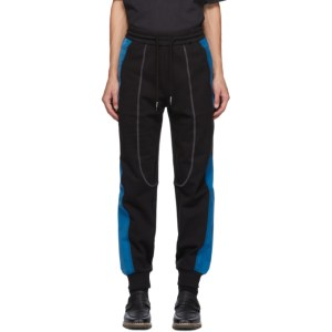 Feng Chen Wang Black and Blue French Terry Lounge Pants
