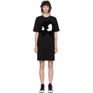 McQ Alexander McQueen Black McQ Swallow Chester Monster Short Dress