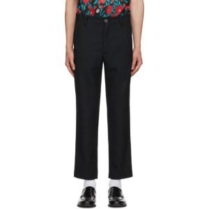 Goodfight Black Pinstripe Junction Trousers