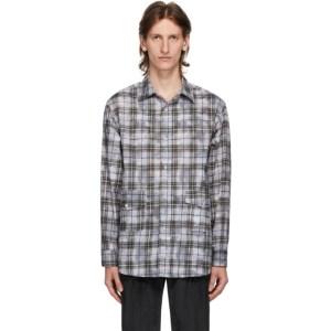 Goodfight Grey Plaid Gatherer Shirt