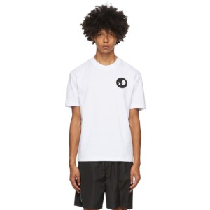 McQ Alexander McQueen White McQ Swallow Monster Badge T-Shirt
