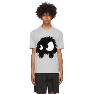 McQ Alexander McQueen Grey McQ Swallow Chester Monster T-Shirt