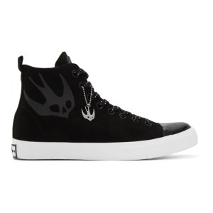 McQ Alexander McQueen Black McQ Swallow Orbyt High-Top Sneakers
