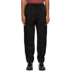 Reese Cooper Black Taffeta Cargo Pants
