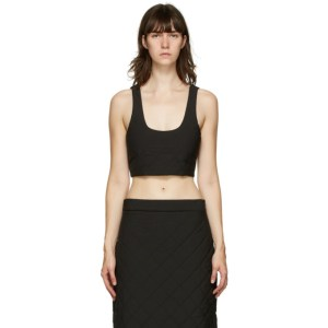 Markoo Black Quilted Scoop Neck Tank Top