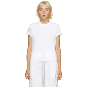 Rick Owens Drkshdw White Short Level T-Shirt
