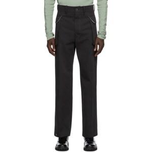 UNIFORME Black Flap Pocket Trousers