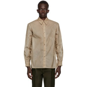 UNIFORME Khaki ECONYL® Waxed Shirt