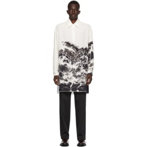 UNIFORME White Abdelkader Benchamma Edition Oversized Printed Shirt