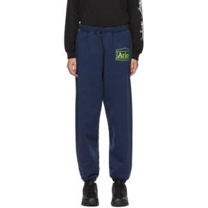 Aries Navy Logo Premium Lounge Pants