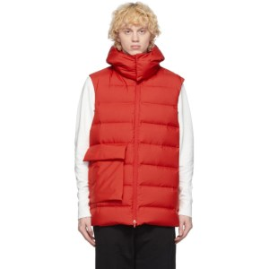 Y-3 Red Down Classic Puffy Vest