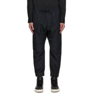 Y-3 Black Nylon Classic Winter Cargo Pants