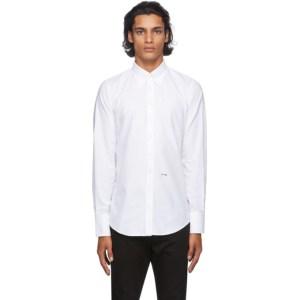 Dsquared2 White Oxford 70s Shirt