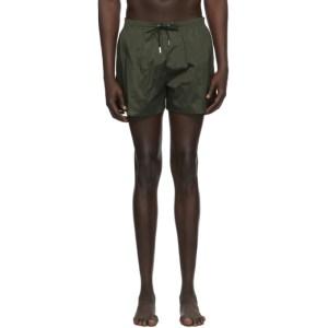 Dsquared2 Green Back Logo Swim Shorts