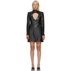 Situationist Black Open Chest Dress