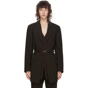 Rokh Brown Vest Detail Blazer