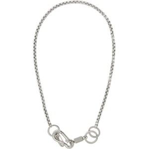 Martine Ali Silver Myles Boxer Wrap Chain Necklace