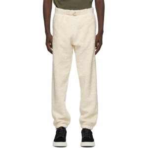 Helmut Lang Off-White Sherpa Shaggy Lounge Pants