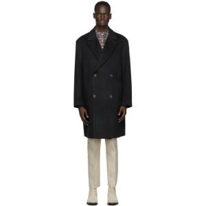 Martin Asbjorn Black Wool Keith Coat