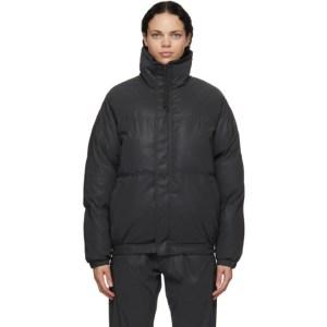 Essentials Black Nylon Puffer Jacket