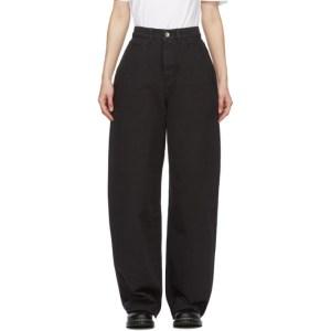 YMC Black Organic Cotton Papa Jeans