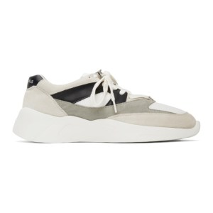 Essentials White and Grey Distance Sneakers