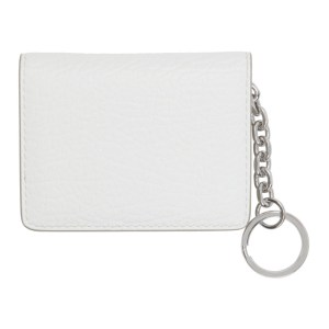 Maison Margiela White Bifold Keychain Card Holder