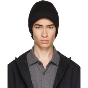 Engineered Garments Black Wool Knit Beanie