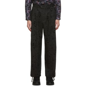 Engineered Garments Grey Splatter Emerson Trousers