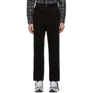 Engineered Garments Black Corduroy Painter Trousers