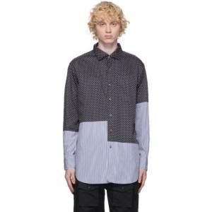 Engineered Garments Navy Big Polka Dot Shirt