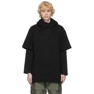 Engineered Garments Black Knit Short Sleeve Hoodie