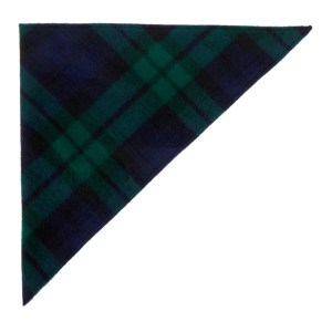 Dheygere Navy and Green Knit Kerchief Head Scarf