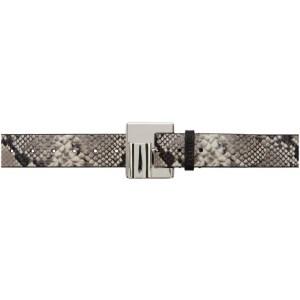 Dheygere Black and Grey Lighter Belt