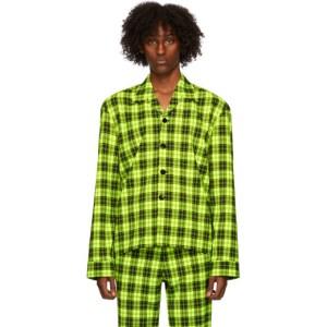 Sankuanz Green Plaid Shirt