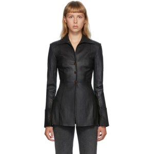 Alexander Wang Black Fitted Leather Shirt
