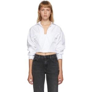 Alexander Wang White Tucked Bustier Shirt