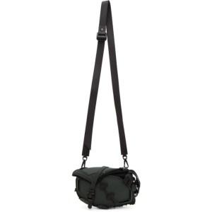 Innerraum Green and Black Saddle Crossbody Bag