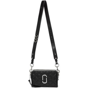 Marc Jacobs Black The Quilted Softshot 21 Bag