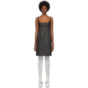 Marc Jacobs Black Polka Dot Glitter Mid-Length Dress