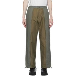 paria /FARZANEH Khaki Recycled Pleat Trousers
